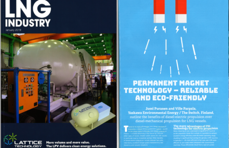 LNG industry magazine cover